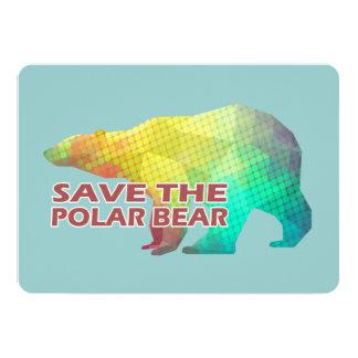 MOSAIC COLOR POLAR BEAR(SAVE THE POLAR BEAR) CARD