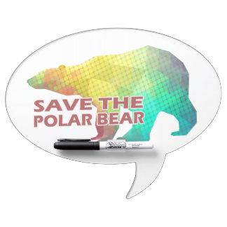 MOSAIC COLOR POLAR BEAR(SAVE THE POLAR BEAR) DRY ERASE BOARD