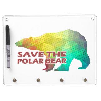 MOSAIC COLOR POLAR BEAR(SAVE THE POLAR BEAR) DRY ERASE WHITE BOARD