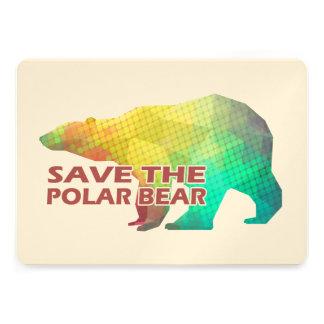 MOSAIC COLOR POLAR BEAR(SAVE THE POLAR BEAR) PERSONALIZED INVITES