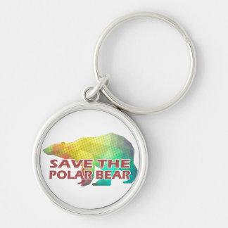 MOSAIC COLOR POLAR BEAR(SAVE THE POLAR BEAR) KEYCHAIN