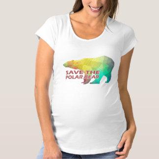 MOSAIC COLOR POLAR BEAR(SAVE THE POLAR BEAR) MATERNITY T-Shirt