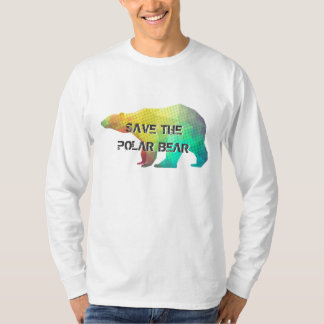 MOSAIC COLOR POLAR BEAR(SAVE THE POLAR BEAR) T SHIRTS