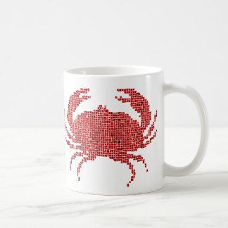 Mosaic Crab Coffee Mug