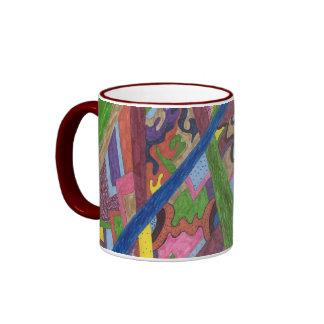 """Mosaic Cross Roads"" Abstract Art Coffee Mugs"