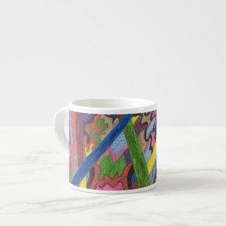 """Mosaic Cross Roads"" Abstract Art Espresso Mug"