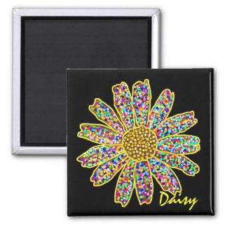 Mosaic Daisy Magnet