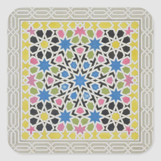 Mosaic design from the Alhambra, from 'The Arabian Square Sticker