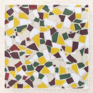 Mosaic Design Glass Coaster