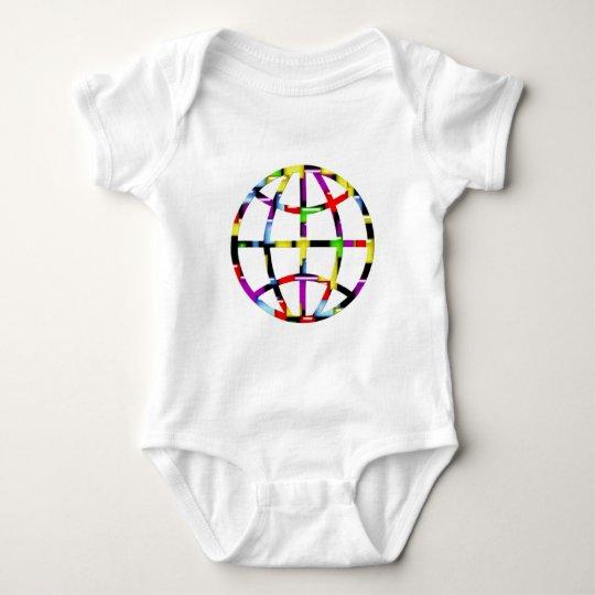 mosaic earth baby bodysuit