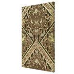 Mosaic ecclesiastical wallpaper design canvas print