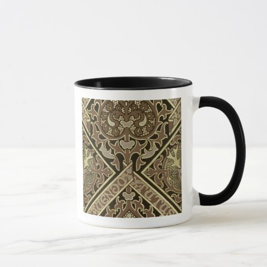 Mosaic ecclesiastical wallpaper design mug