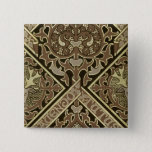 Mosaic ecclesiastical wallpaper design pinback button