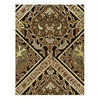 Mosaic ecclesiastical wallpaper design postcard