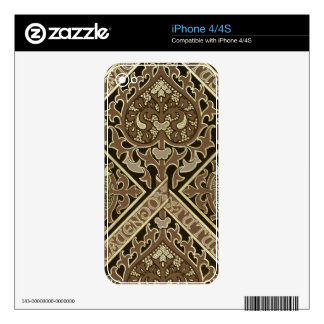Mosaic ecclesiastical wallpaper design skins for the iPhone 4
