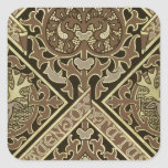Mosaic ecclesiastical wallpaper design square sticker