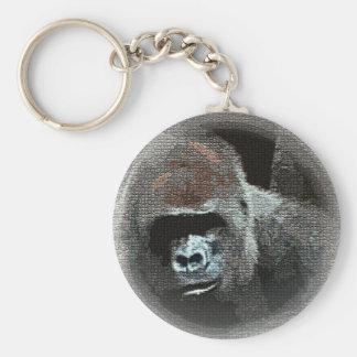 Mosaic Effect Gorilla Portrait Keychain