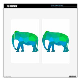 Mosaic Elephant 1 Skins For Kindle Fire