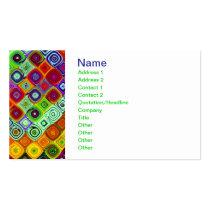 Mosaic Fine Fractal Art Business Card