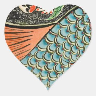 Mosaic Fish Fash Heart Sticker