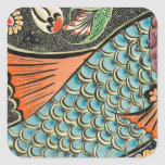 Mosaic Fish Fash Square Sticker