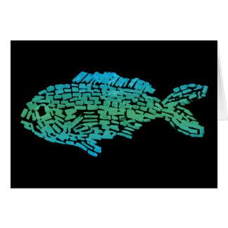 Mosaic Fish Greeting Card