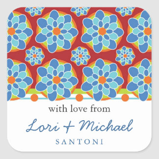 Mosaic, Floral Pattern Gift Tags