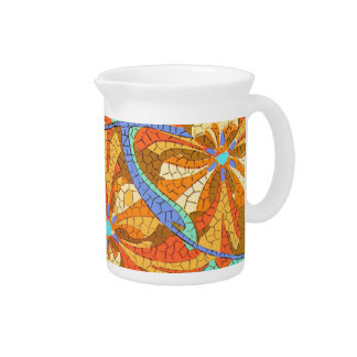 Mosaic Floral Pitcher
