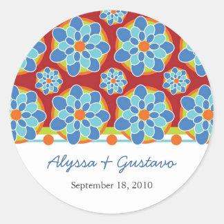 Mosaic Floral Wedding Stickers