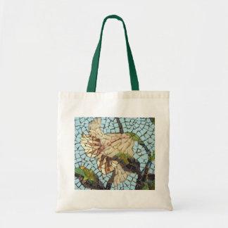 Mosaic flower canvas bag