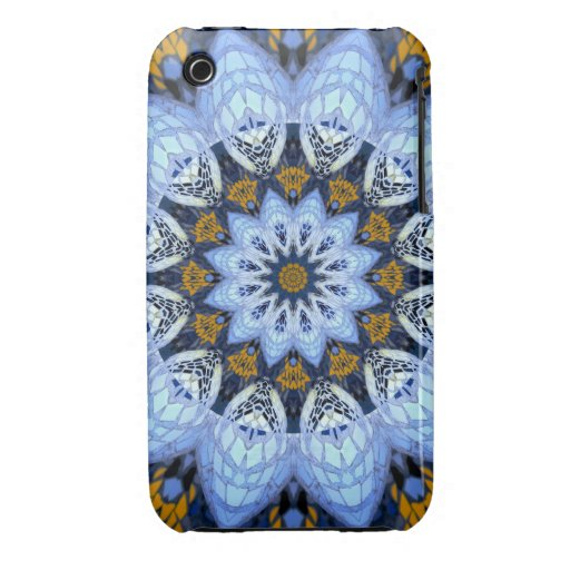 Mosaic Flower iPhone 3 Covers