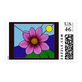 Mosaic Flower stamp