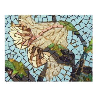 Mosaic flower postcard