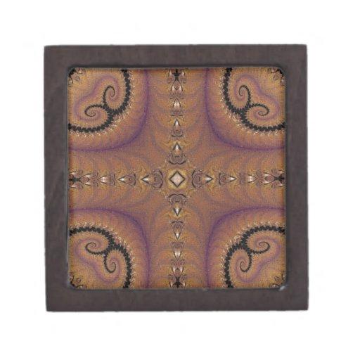 Mosaic Fractal 122 Premium Keepsake Boxes