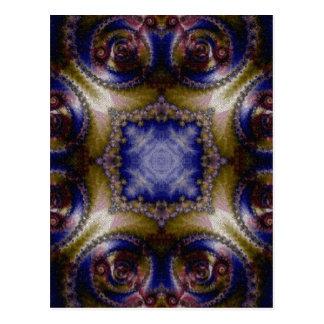 Mosaic Fractal 136 Postcard