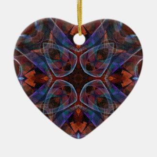 Mosaic Fractal 141 Ceramic Ornament