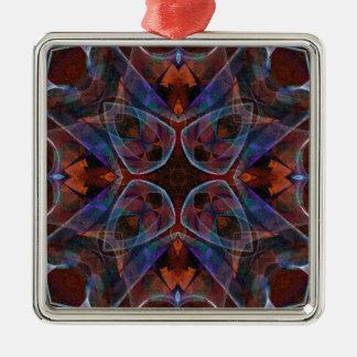 Mosaic Fractal 141 Metal Ornament