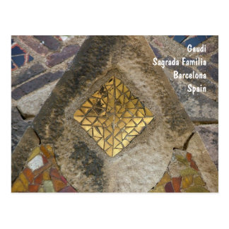 Mosaic from the Sagrada Familia Postcard