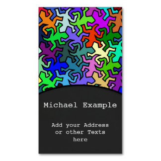 Mosaic Geckos Pattern - colored Magnetic Business Cards (Pack Of 25)