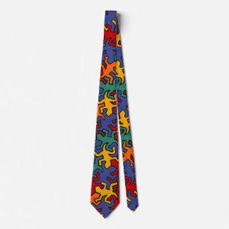 Mosaic Geckos Pattern - earth colors + your ideas Neck Tie