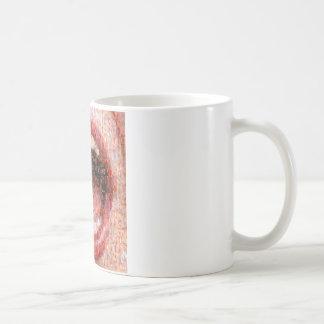 """Mosaic """"giggle """" coffee mug"""