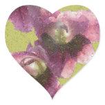 Mosaic Gladiola Art Heart Sticker