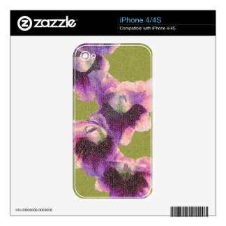 Mosaic Gladiolas Decal For The iPhone 4