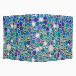 Mosaic Glass Pebbles 3 Ring Binders