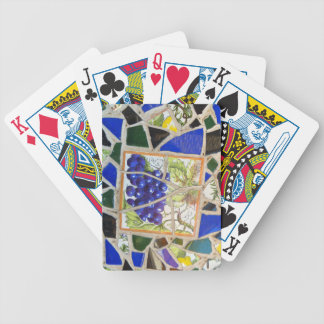 Mosaic Grapes Bicycle Playing Cards