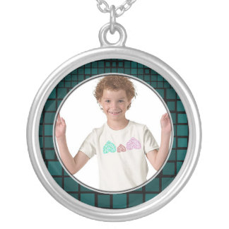 Mosaic Green Frame Necklace Add Photo