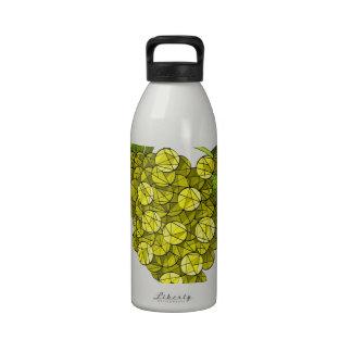 Mosaic Green Grapes Art Drinking Bottle