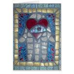 Mosaic Hamsa W/Heart and Evil Eye