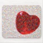 Mosaic Heart Mouse Mats