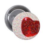 Mosaic Heart Pinback Buttons